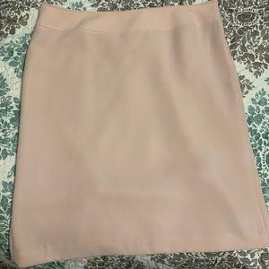 Blush Pink Pencil Skirt